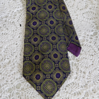 Vintage Purple and Green TIE
