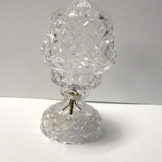 23cm VINTAGE Crystal Lamp Base