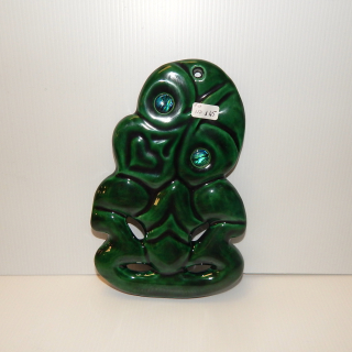 NZ Made Ceramic TIKI with Paua eyes