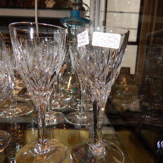 8 little Stuart CRYSTAL Liqueur GLASSES