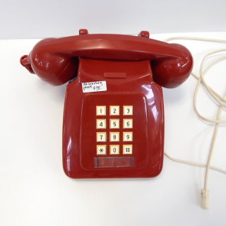 NZ Red push Button Vintage Telephone