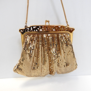 Gold Whiting and Davis Vintage Evening Bag