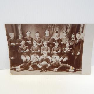 Masterton 3rd Class Football team, photo postcard