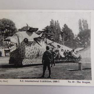 N.Z Exhibition 1906-7 Post Card . No 19 The Dragon