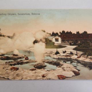 mallory Geysers, Sanatorium Rotorua POSTCARD