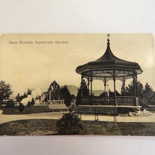 NZ Postcard,  Band Rotunda, Sanatorium Gardens