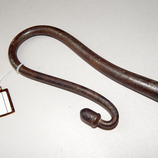 A SUPERB RARE VINTAGE GOOSE CROOK,MADE FROM WROUGHT IRON