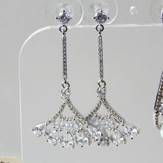 Crystal Fan shaped NEW Drop earrings