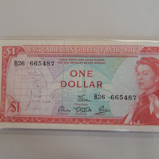 East Caribbean 1965 Bank note