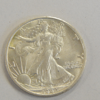 1942 Walking Liberty U.S.A half DOLLAR