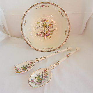 Crown Ducal Salid Bowl and SERVERS