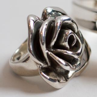 Sterling Silver Rose design Ring