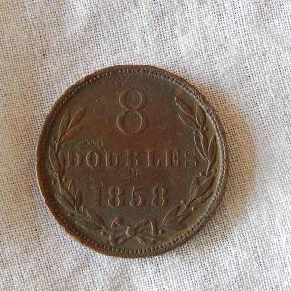 1858 Guernsey coin