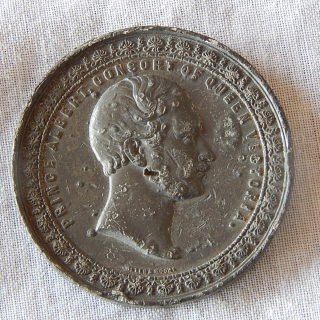 1851 INDUSTRIAL Exhibition Large token