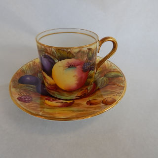 Aynsley Fruit Coffee can and saucer