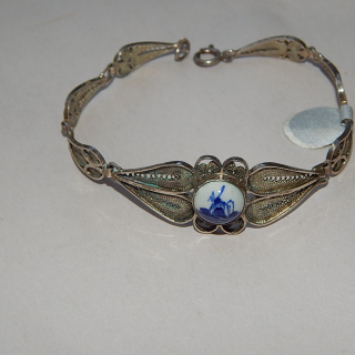 Silver Bracelet with DELFT Plaque
