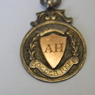 1934 Soccer rep Sterling Silver fob