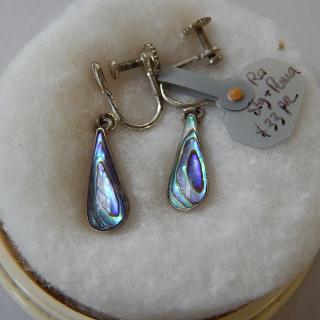 Silver and Paua shell earrings