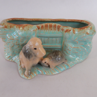 Hornsea Puppy and Turtle Vase