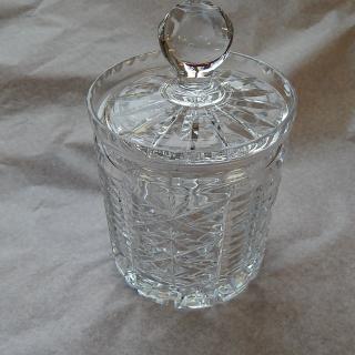 Webb Corbett Crystal Biscuit Barrel