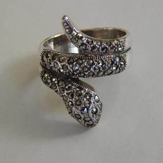 Art Deco Styled Snake Ring