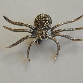 New Silver Spider Brooch