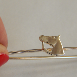 Sterling Silver Kilt pin with Horse
