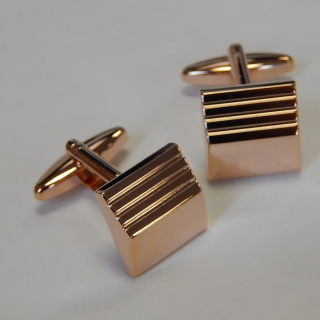NEW Rose Gold plate Cuff Links