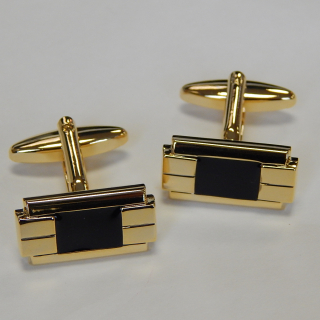 Gold Coloured Deco cuff Links