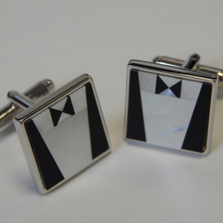 Mother of Pearl Tuxedo Cuff Links