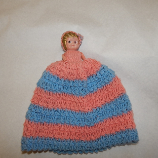 Celluloid Kewpee Doll tea cosy