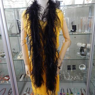 Black Ostrich Feather Boa