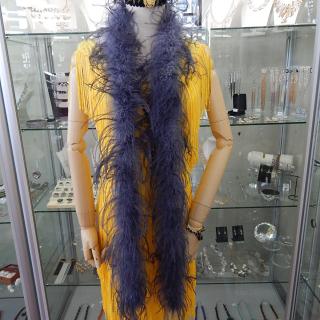 Grey Ostrich Feather Boa