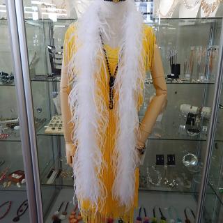 White OSTRICH Feather Boa