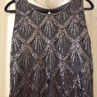 Black sequin Art Deco Dress