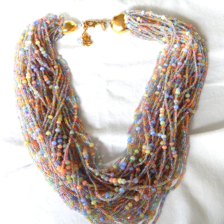Multi String JOAN RIVERS Glass necklace