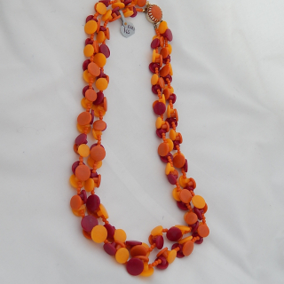 1960's Vintage Button Necklace