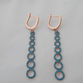 Gold Plated Antique look Turquoise Earrings