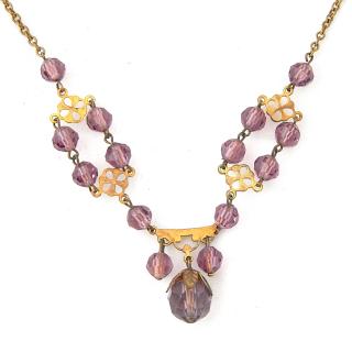 Pretty Purple Glass necklace