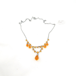 Amber coloured glass necklace