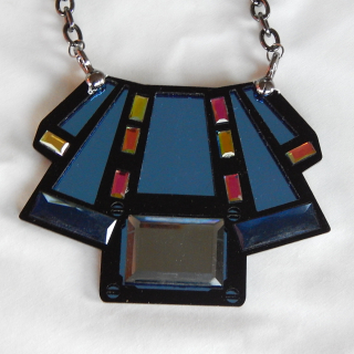 Art Deco FUNKY  Perspex Necklace