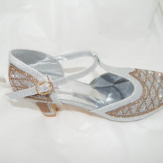 Art Deco Shoes in Gold and Silver
