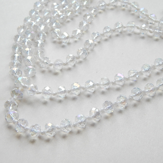 Long Knotted crystal Gatsby necklace