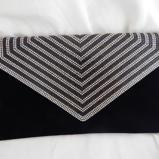 Black Velvet Clutch purse