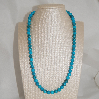 8mm round Turquoise Bead necklace