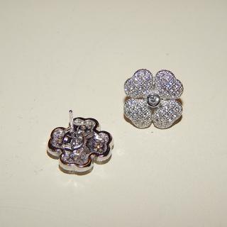 Sterling Silver crystal set stud earrings