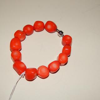 Orange Coral Bracelet