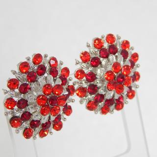Red Screw on earrings