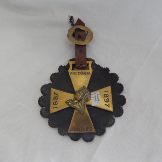 Antique Victoria 1897 Jubilee Horse Brass
