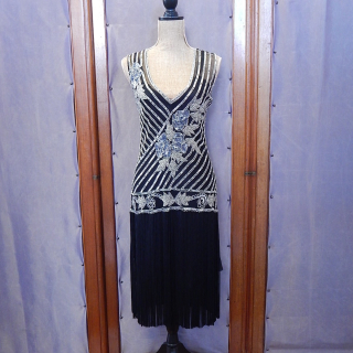 Art Deco Flapper dress with fringe